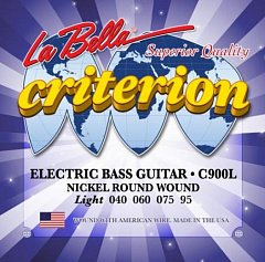 Струны для бас-гитары La Bella C900L Criterion 040-060-075-095